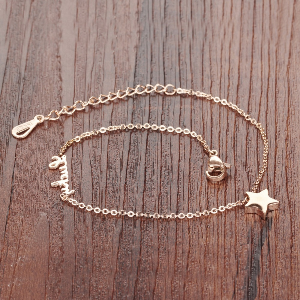 rakuten overlay nikgold personalized adjustable gold product name bracelet with ankle shop anklet fits bracelets