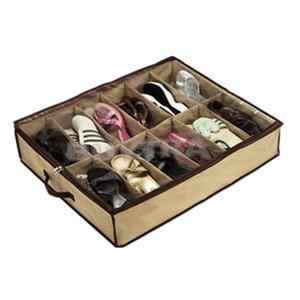 ตู้เก็บห้องนั่งเล่นภายใต้ผู้ถือกล่องกรณี Storer สำหรับ 12 รองเท้าหรือรองเท้าแตะ