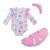 Primeira Festa de Aniversário do bebê roupas Novas Do Bebê Roupa Da Menina Rosa Macacão de Bebê dos desenhos animados Manga Longa saia Tutu headband do 3 Pcs Set Bebe