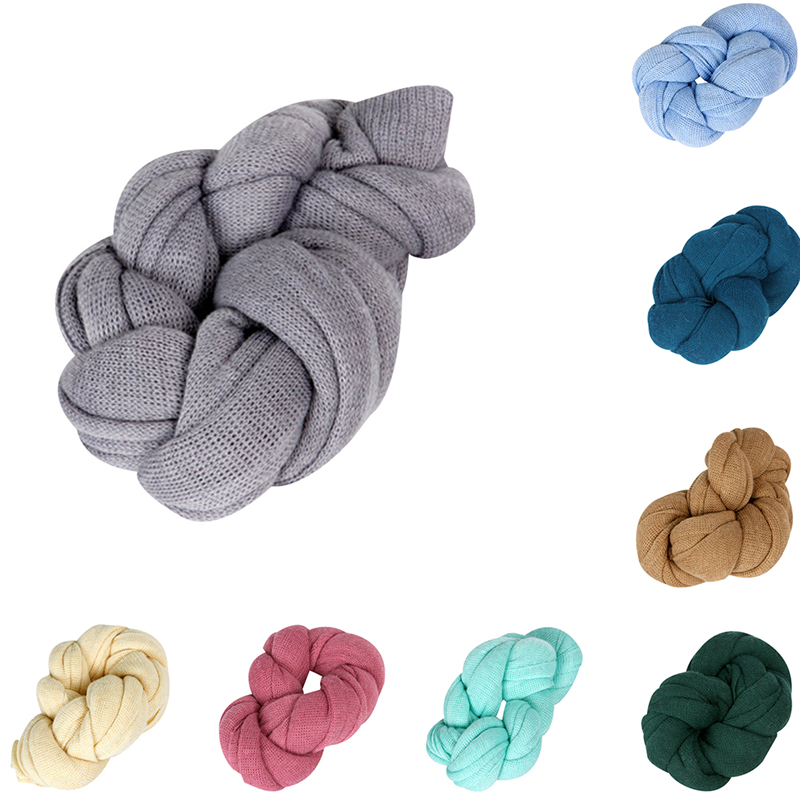 40*140cm Baby Photography Props Blanket Rayon Wraps Stretch Knit Wrap Newborn Photo Wraps Hammock Swaddle Nubble Wrap Mother & Kids Receiving Blankets