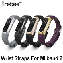 firebee Metal Straps with Alloy Frame For MiBand 2 Smart Bracelet