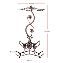 Europeo in ferro battuto mensola di esposizione di vino rosso di stoccaggio creativo decorazione della casa ornamenti artigianali