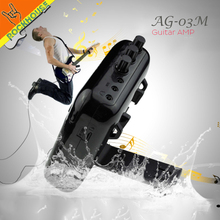 Aroma 5W Mini Guitar Amplifier Portable Multifunction Guitar AMP with Recorder, TF Card Slot Compact Nice Timbre Free Shipping