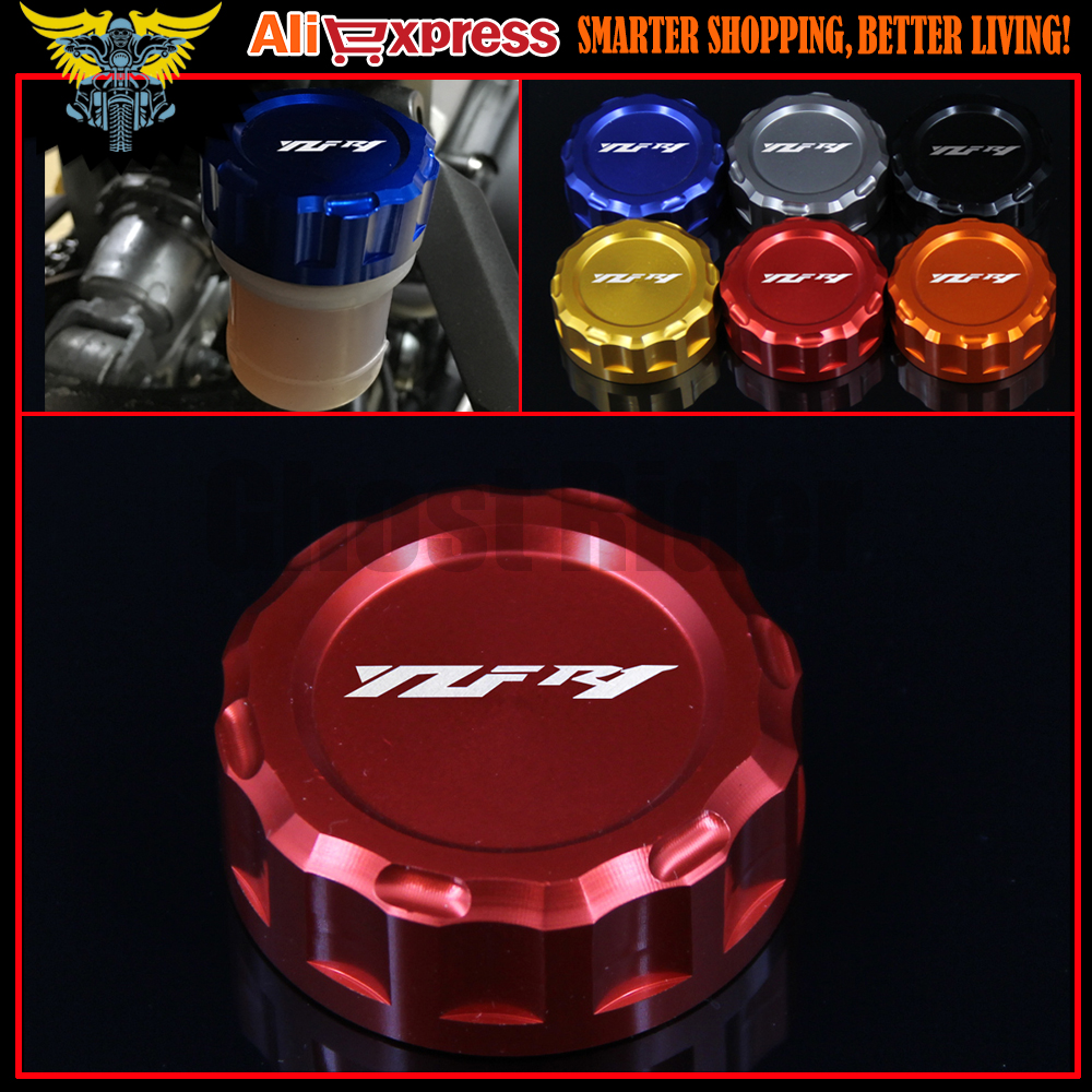 6 Color Motorcycle Accessories CNC Aluminum Rear Brake Fluid Reservoir Cover Cap For YAMAHA YZF R1 2009-2014 10 2011 2012 2013 for yamaha yzf r25 r3 yzf r3 yzf r25 2014 2015 motorcycle accessories rear brake fluid reservoir cover cap cnc aluminum