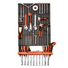 Новинка, пластиковый ящик для инструментов с крючками, настенный ящик для инструментов, детали для инструментов, органайзер, компонент, коробка, подвесной пластиковый ящик для инструментов, Настенная коробка для деталей