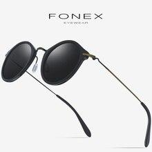 Acetate B Titanium Polarized Sunglasses Women New Brand Designer Retro Vintage Round Elastic Sun Glasses for Men Sunglass 852