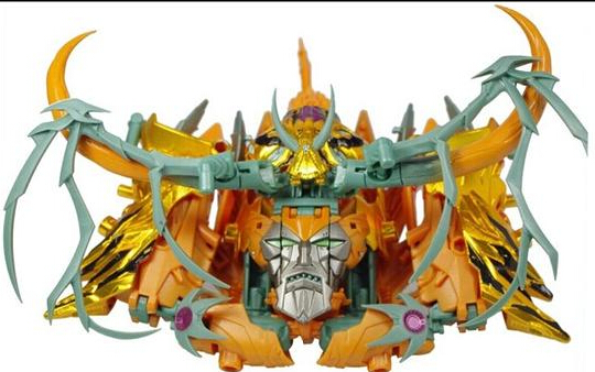 ФОТО gold color coating unicron robot action figures classic toys for boys birthday gift with retail box