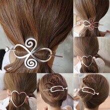 Girl Retro Lovely Star Arrow Pearl Hair Sticks Hair Clips Party Wedding Hairpins Metal simple headwear