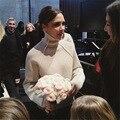 Nueva Moda Para Mujer Otoño Octoer 2017 Diseño Largo Femenino Hecho Punto Suéteres de Cuello Alto de la Capa Caliente Ocasional Pullovers Suéter de la Señora