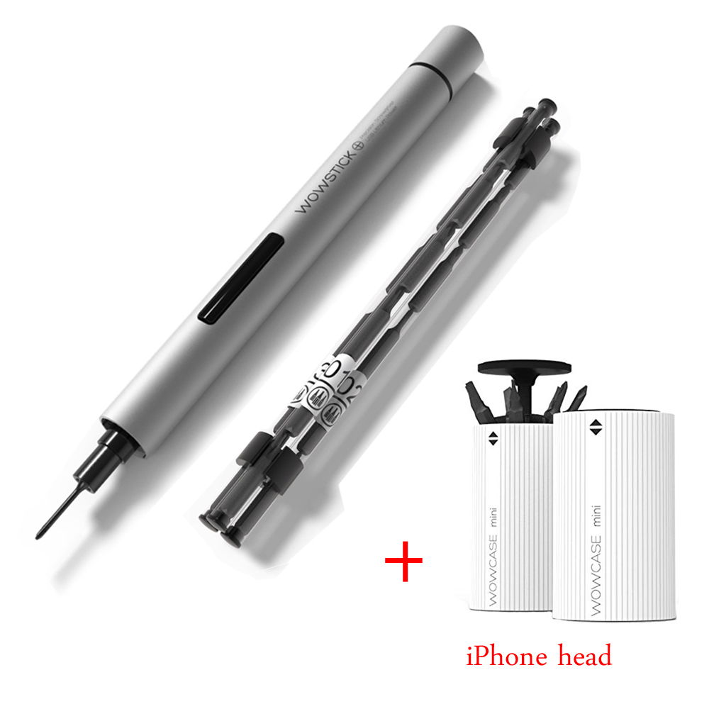 Wowstick 1P 1Fs Mini Cordless Battery Cordless Screwdriver and Apple Bit Set Electric Precision Mobile Phone Electronic Repair Price $19.38