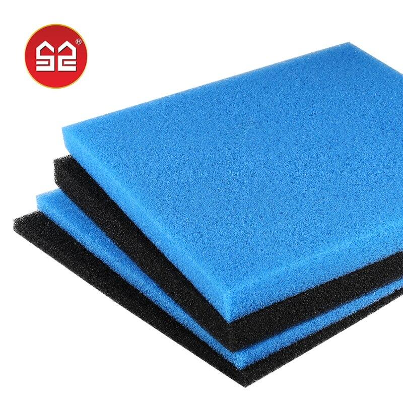 50x50x2 4cm Black Blue Biochemical Cotton Filter Foam Sponge Aquarium Fish Tank Pond Excellent Water Permeability Lightweight