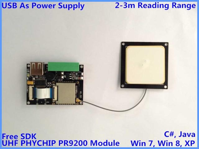 PR9200 short range uhf rfid reader module embedded antenna small usb