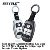 1pc SEEYULE Aluminum Alloy Car Key Case Cover Key Shell Storage Bag for KIA Niro Optima Forte Sportage R Sorento Cerato Shuma