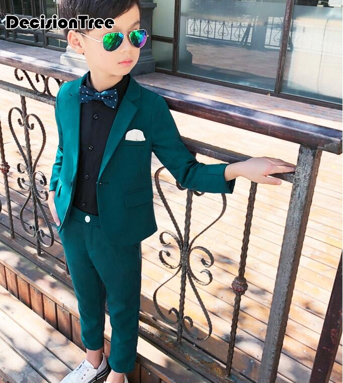 2019 new formal baby boy clothes wedding for suit party baptism christmas suits for baby suits wear white black piece