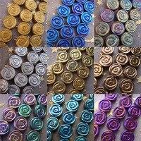 2018 NOUVEAU 8mm 10mm 12mm noir bleu arc-en-or argent cuivré violet mat Hématite fleur rose Lâche perles Livraison Gratuite