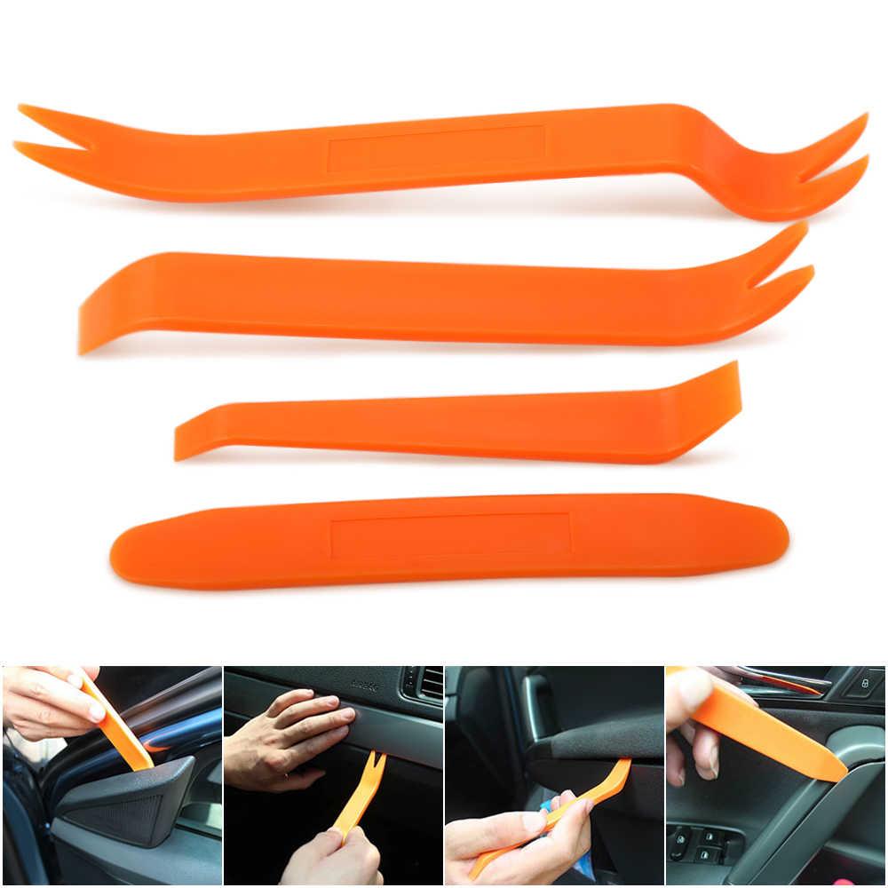 Estilo do carro Rádio de Carro ferramenta de Desmontagem 4 PCS Para BMW E90 F30 F10 Audi A3 A6 C5 C6 Opel Insignia alfa Romeo Ssangyong