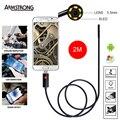 5.5 мм 2 М USB Эндоскоп Водонепроницаемая Камера эндоскоп Андроид Эндоскоп Бороскоп 6 СВЕТОДИОДНЫЙ Мини Змея Инспекции Камеры Endoscopio
