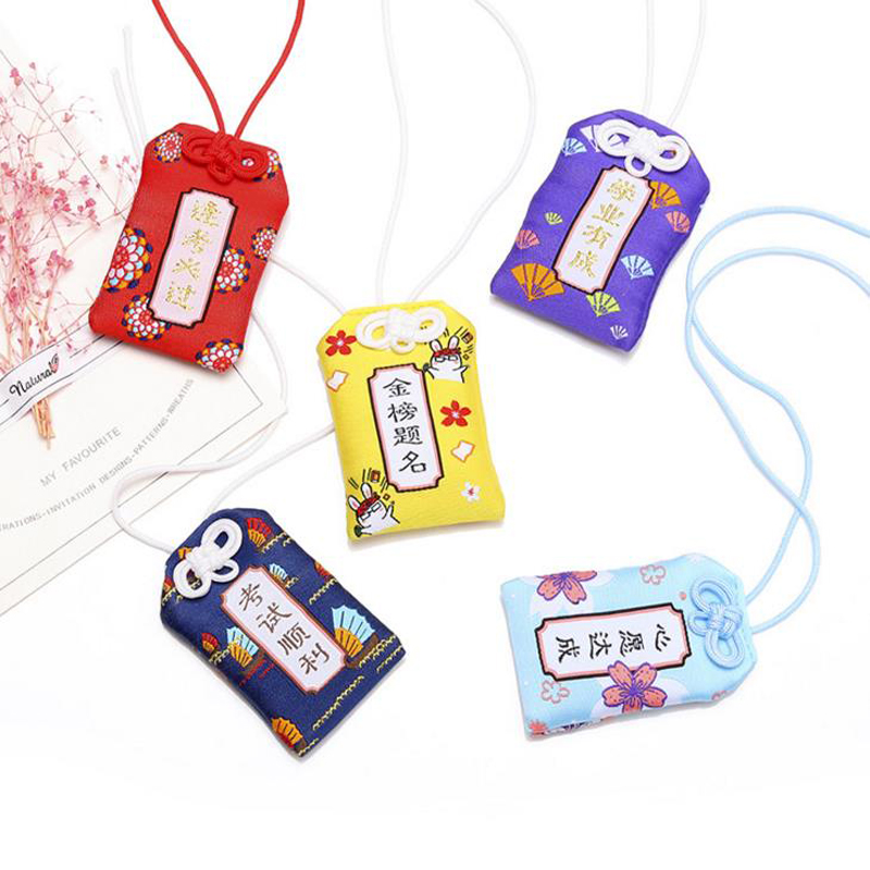 1 Pcs Japanese Traditional Omamori Fortune Love Study Success In Wok Safety Healthy Good Luck Pendant Cute Gift Party Favors