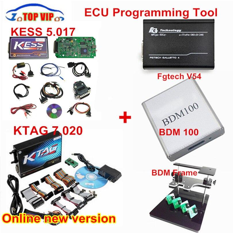 Полный комплект! Новый HW V4.036 KESS V2 мастер ЭКЮ чип инструмент настройки + KTAG V2.13 + Galletto V54 + программатор BDM + BDM 100 чип тюнинг комплект