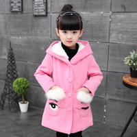 Baby Girl Cute Hoodie Jacket Autumn Winter 2017 Little Girs Coats And Jackets Big Girls Outerwear