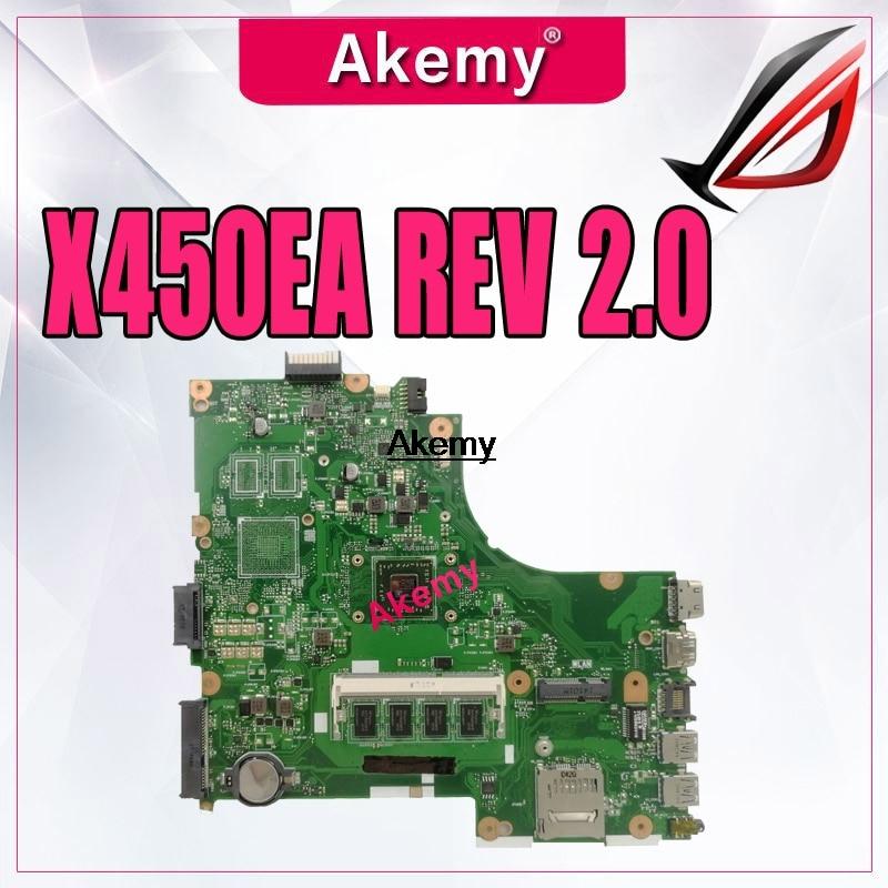 For Asus X450EP X450EA X452EA X452E Rev 2.0 AMD A4-5100 CPU Laptop Motherboard