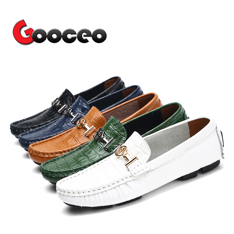 Men's Flats Loafers Doug Driving Shoes For Men Spring Summer Leather Casual Leisure Slip-On Fashion Plus Size Sizes 16 Dress spring summer flock women flats shoes female round toe casual shoes lady slip on loafers shoes plus size 40 41 42 43 gh8