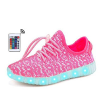 Remote Luminous Sneakers for Women LED Shoes Glowing with Light USB Charging Up zapatillas con luces