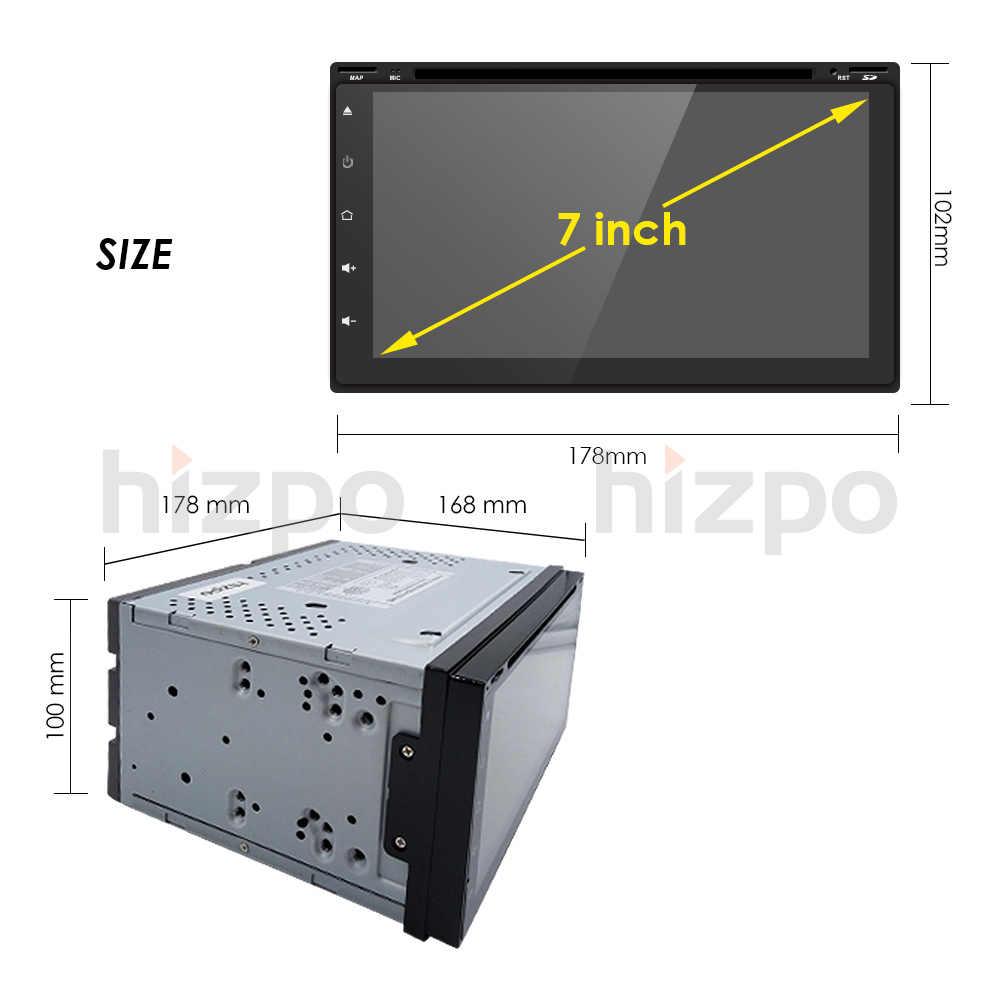 Hizpo Автомобильный dvr gps навигация 7 дюймов Android Bluetooth Wi Fi 1080 p камера Автомобильный видеорегистратор 1080 Запись Бесплатная карты SWC RDS DTV