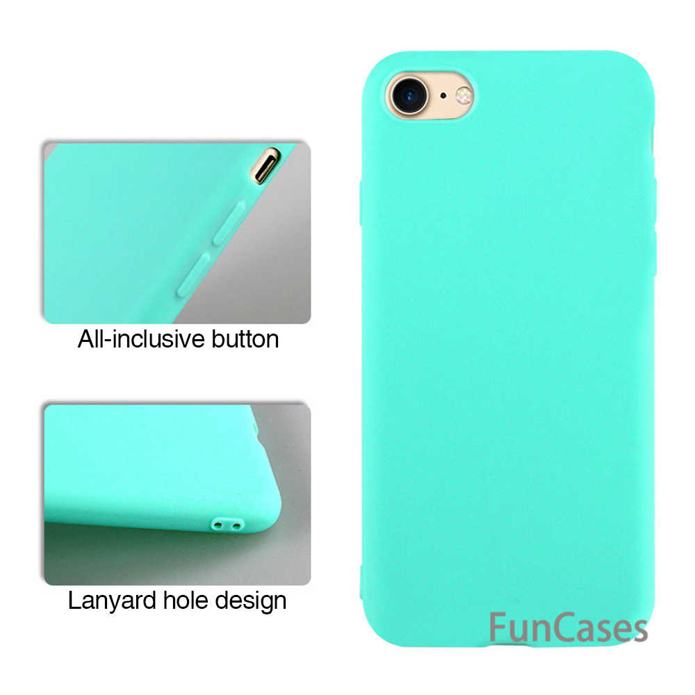 Color sólido caja del teléfono TPU para iPhone XS 6s 6 Plus mate claro cubierta para iPhone X XR XS Max Slim funda para el iPhone 7 8 Plus Capa