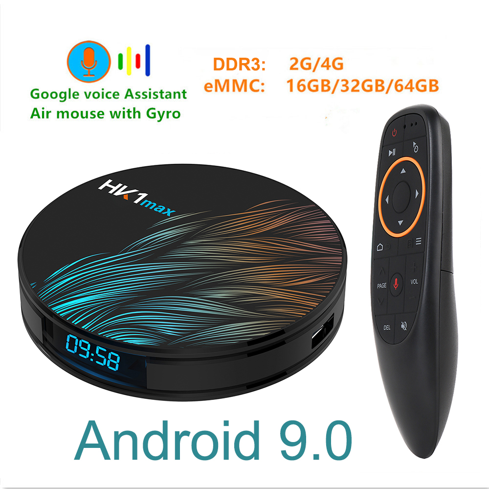 HK1max Android 9.0 Smart TV BOX Google Voice RK3328 4G 64G TV Receiver