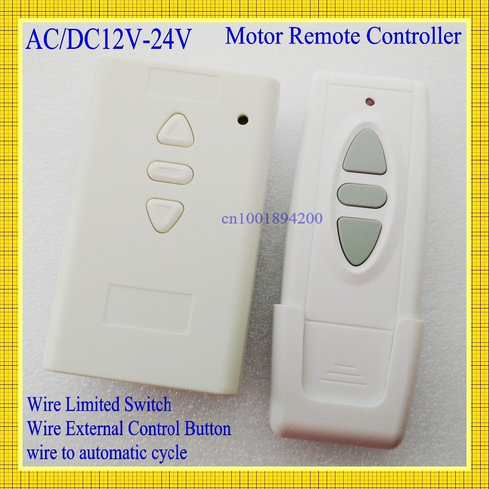 small resolution of ac dc motor remote switch controller 12v 24v 36v motor forwards reverse up down wall transmitter