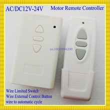 AC DC Motor Remote Switch Controller 12V 24V 36V Motor Forwards Reverse Up Down Wall Transmitter Manual Button Limit  Switch