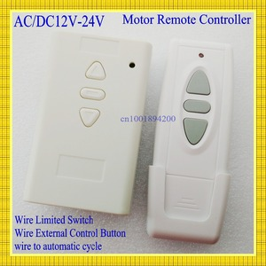 Image 1 - AC DC Motor Remote Switch Controller 12V 24V 36V Motor Forwards Reverse Up Down Wall Transmitter Manual Button Limit  Switch