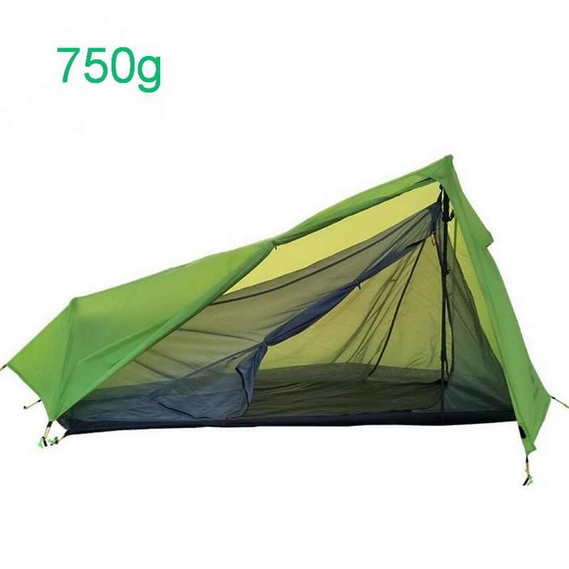 750g ultra-léger et pratique tente de camping en plein air, coupe-vent et étanche à la pluie en aluminium pôle ultra-léger une chambre une salle tente