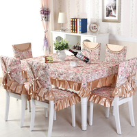 13 Pcs Set Tablecloths Chair Covers Pastoral Style Flower Tablecloth For The Table Luxury Table Cloth