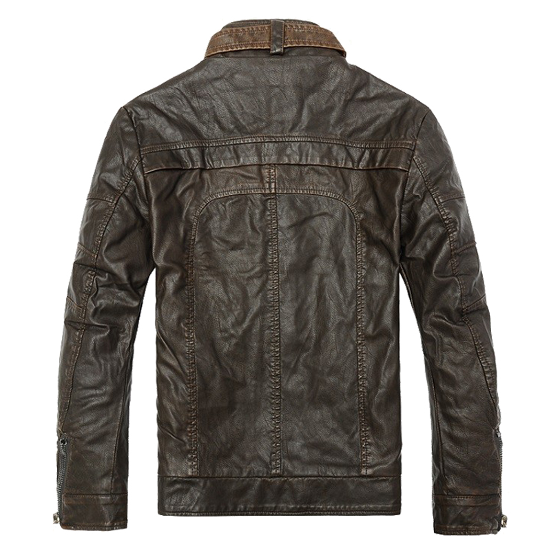 Mens Bikers Winter Leather Jacket 3