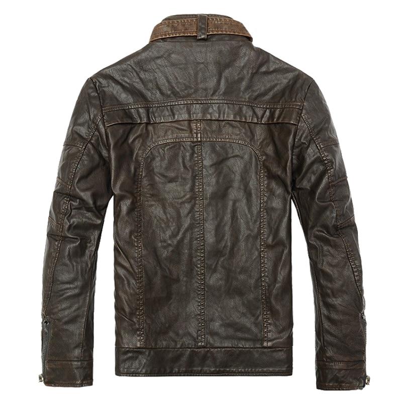 Mountainskin Winter Men's Leather Jackets Casual Men Vintage Motorcycle PU Faux Jacket Male Moto Coats Brand Clothing SA086