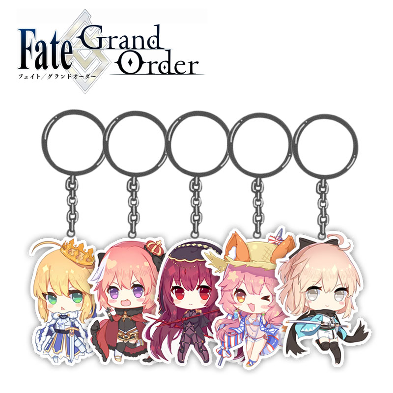 5CM Cute Anime Game Fate Grand Order FGO Keychain Saber Astolfo Figure Pendants Acrylic Keyring Collection Gift 1pcs