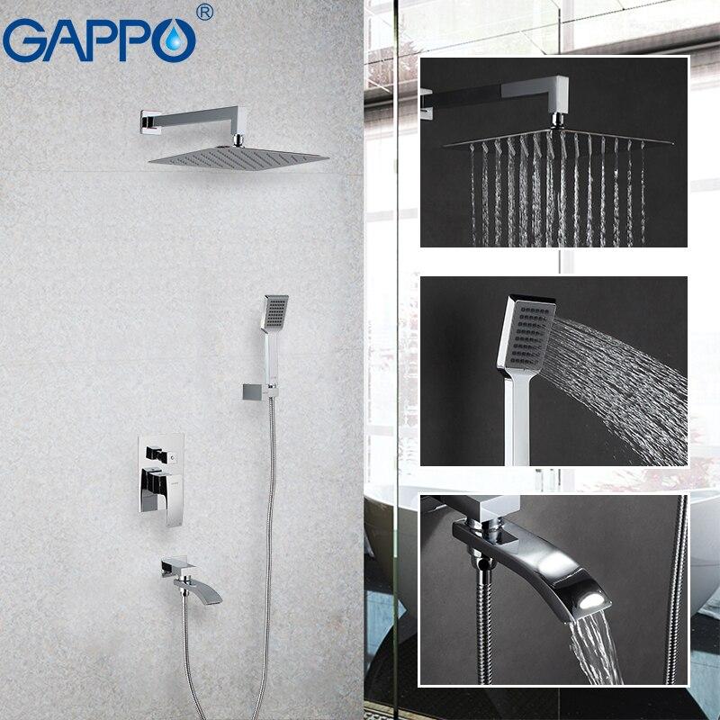 GAPPO смеситель для душа, система для дождя, смеситель для душевой комнаты, набор для душа для ванной, кран для ванной, настенный кран