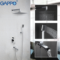 GAPPO shower faucets rain shower system shower room mixer water bath shower set bathtub faucet wall mounted faucet