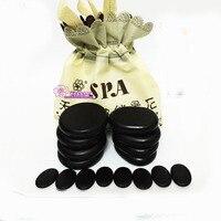 Quality 16pcs acupuncture Energy volcanic SPA hot lava beauty massage health Stone
