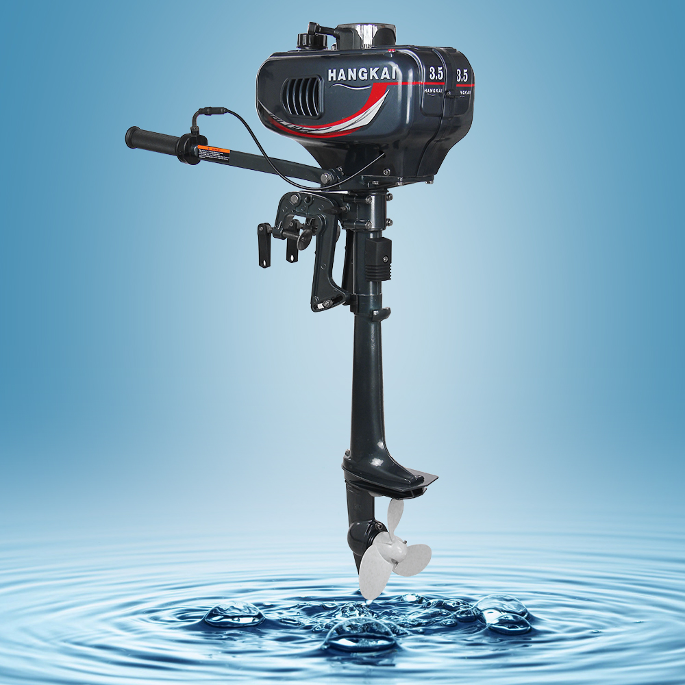 Free DHL Shipping Low Price Hangkai 3 5HP boat outboard motor 2 stroke inflatable boat outboard