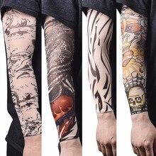 Skins Proteive Nylon Stretchy Fake Temporary Tattoo Sleeves Designs Body Arm Stockings Tatoos Cool Men Women Tattoo Arm Warmer