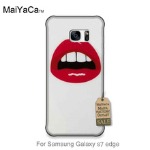 Cute Phone Accessories The Sexy lips eating cherry fruit of food For GALAXY s7 edge case