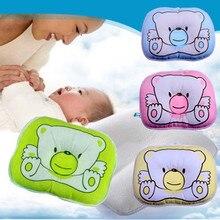 1 шт., Мягкое хлопковое детское постельное белье с рисунком медведя, овальная форма, детская подушка для придания формы
