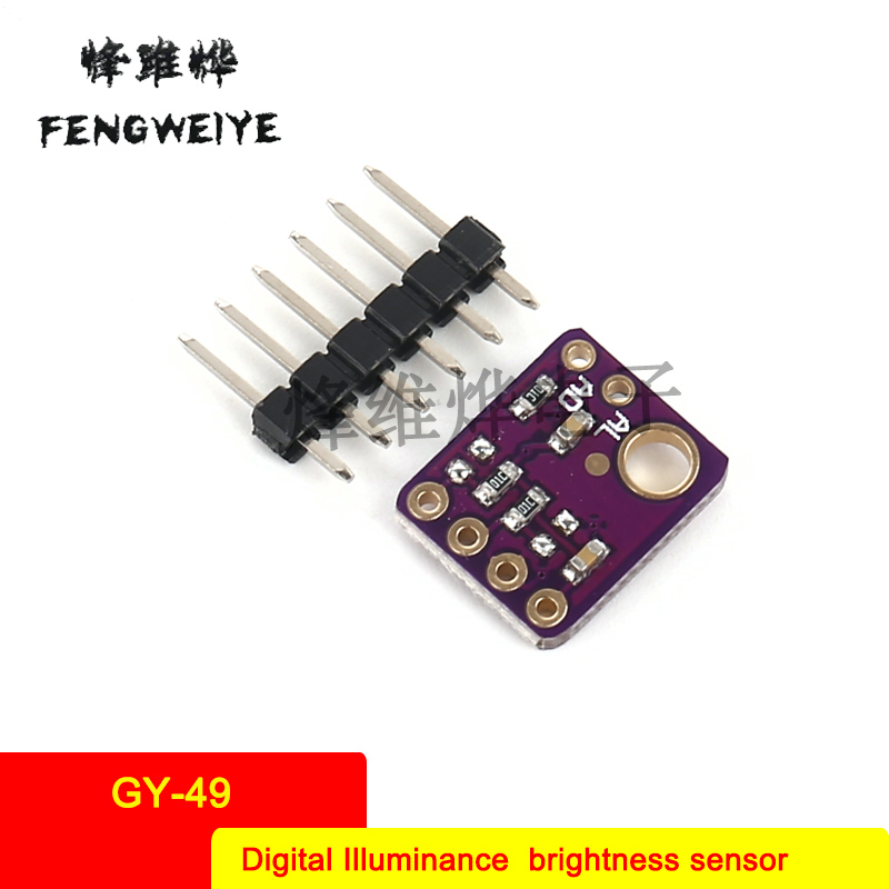 Panel GY 49 MAX44009 Digital Illumination Light Intensity Sensor Module i2c Interface High Precision