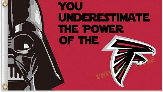 90x150 cm Atlanta Falcons bandeira 100D Bandeira de Poliéster bandeira  feita sob encomenda da bandeira de Impressão Digital de frete grátis 16a5c08995681