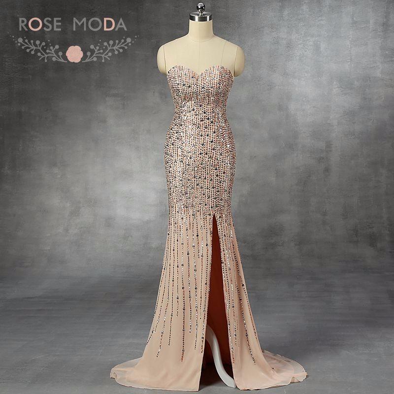 nude prom dress
