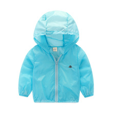 The boy sunscreen clothing thin 2016 new spring summer kids girls children baby coat with bag