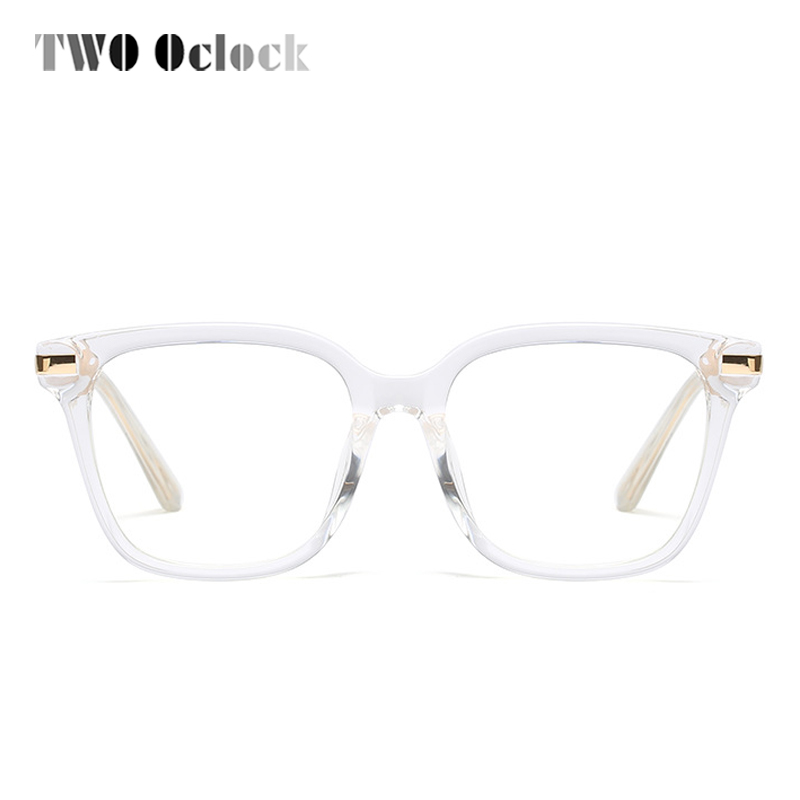 25242fb9c12 TWO Oclock Trendy Square Glasses Women Clear Transparent Glasses Myopia  Prescription Optical Frames Eyewear Female Oculos